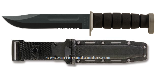 Ka-Bar 1282 D2 Extreme Fighting Knife w/ Hard Sheath