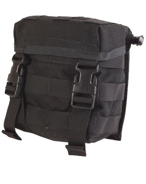 High Speed Gear 12CP00BK 2QT Canteen Pouch-MOLLE-Black