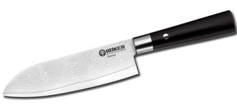Boker Germany Kitchen Damascus Black VI Santoku (Online Only)