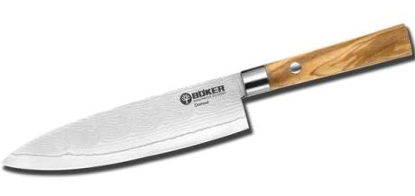 Boker Kitchen Damascus Olive VIII Utility Knife