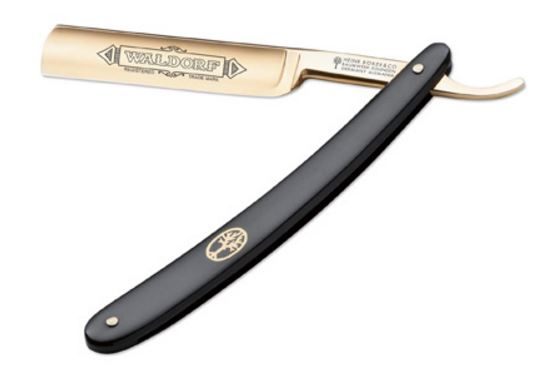 Boker Germany Waldorf Gold 24 Karat Straight Razor