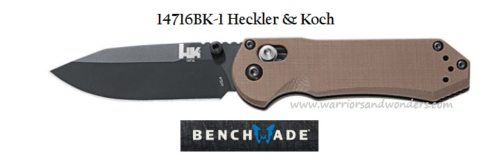 Benchmade Heckler & Koch 14716BK-1 AXIS D2 Folder