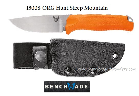 Benchmade Hunt Steep Mountain S30V w/Kydex Sheath 15008ORG