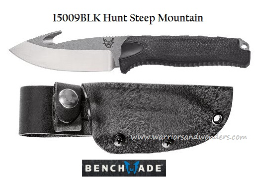Benchmade Hunt Steep Mountain w/ Hook - Black Handle 15009