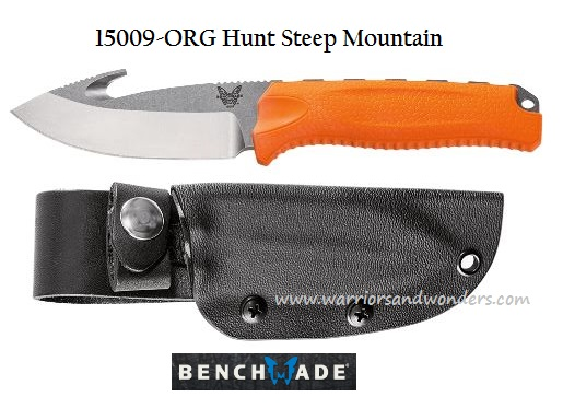 Benchmade Hunt Steep Mountain w/ Hook - Orange Handle 15009 (Online Only)