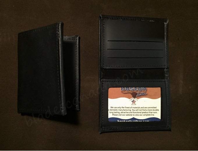 Boston Leather 165S-1ID Book Style Wallet w/ ID Window
