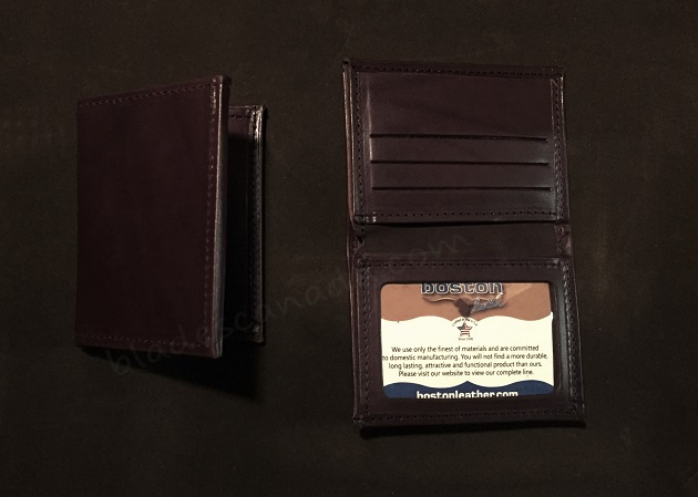 Boston Leather 165S-1ID Book Style Wallet w/ ID Window - Brown
