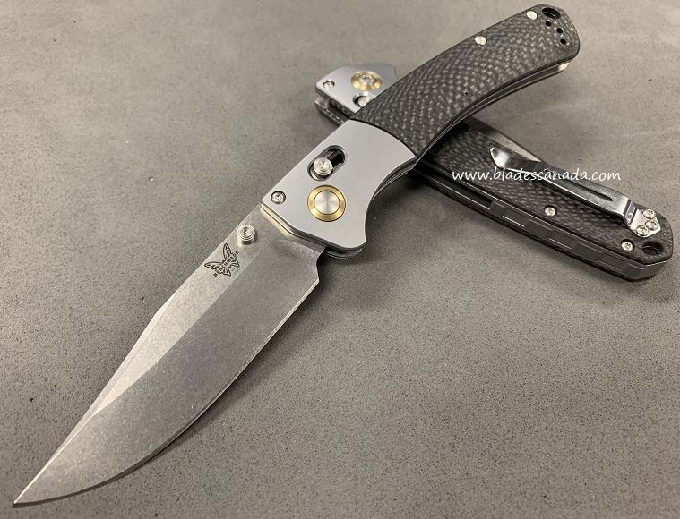 Benchmade Crooked Rive, S90V Blade, Carbon Fiber Handle (Online Only)