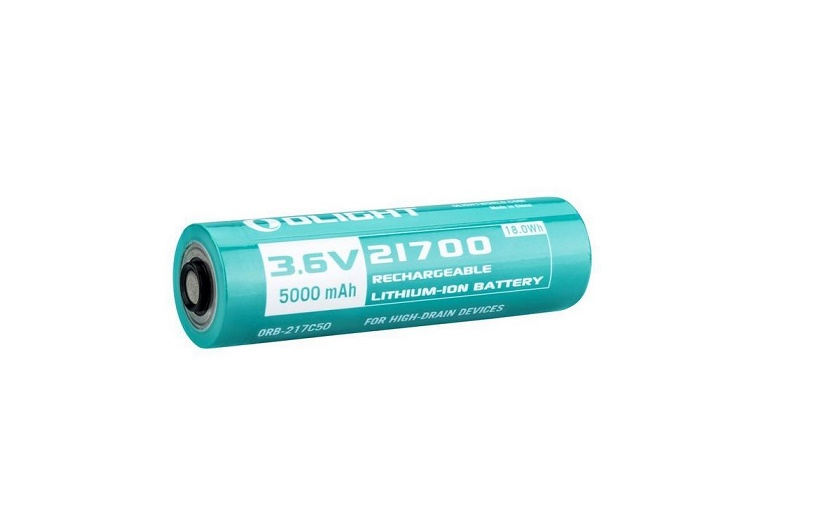 Olight 21700 Customized Li-Ion Rechargeable Battery - 5000mAh - 217C50