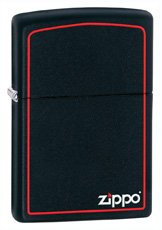 Zippo 11950- Black Matte with Red Border