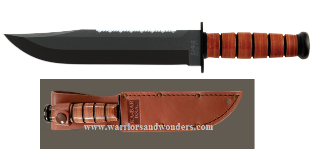 Ka-Bar 2217 Big Brother Leather Handle w/ Tan Leather Sheath