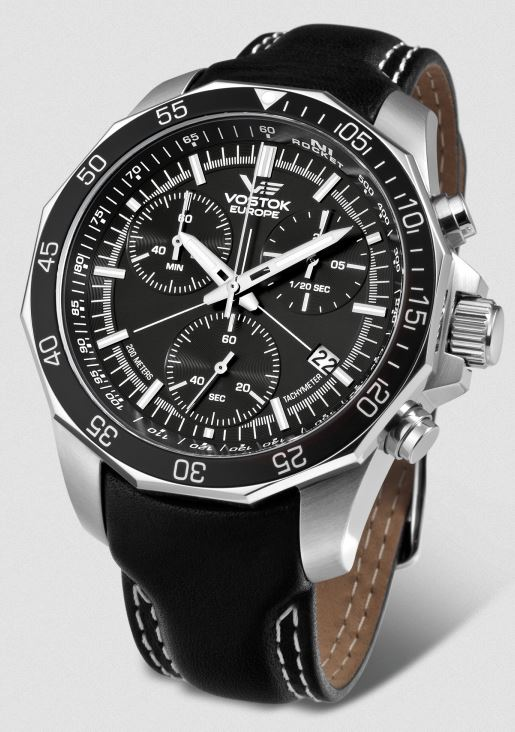 Vostok Europe N1 Rocket Chronograph Leather Strap