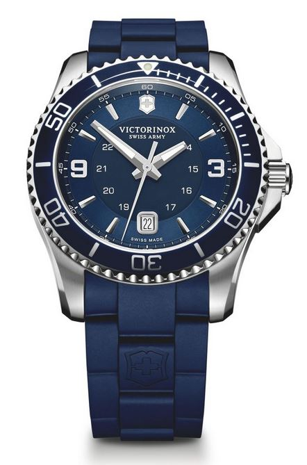 Victorinox Maverick Large Rubber Bracelet - Blue