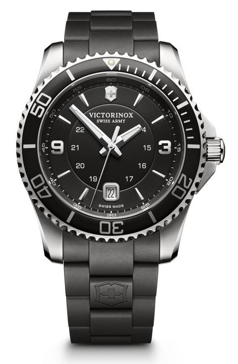 Victorinox Maverick Large Rubber Bracelet - Black