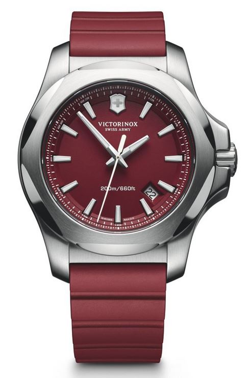 Victorinox I.N.O.X. 43mm Rubber Strap - Red