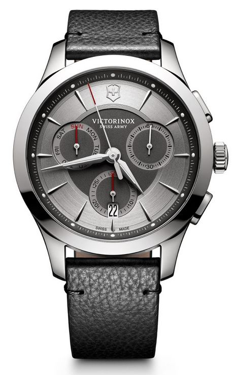 Victorinox Alliance Chronograph Leather Strap - Gray