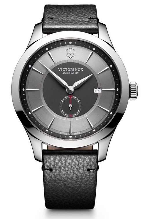 Victorinox Alliance Leather Strap - Gray