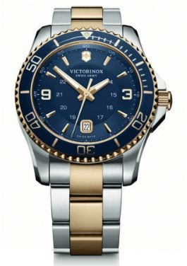 Victorinox Maverick Large SS Bracelet Two Tone - Blue
