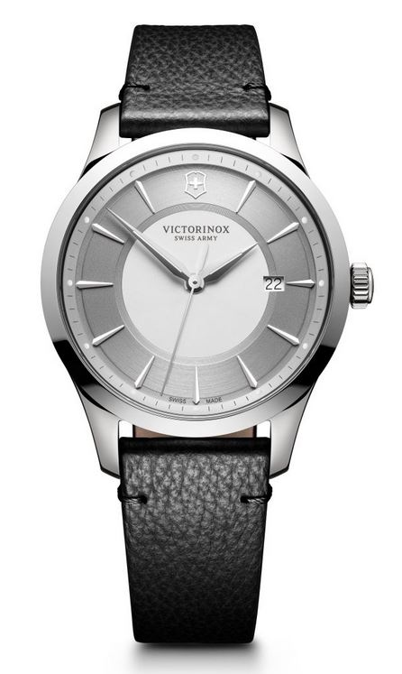 Victorinox Alliance 40mm Leather Strap - Silver