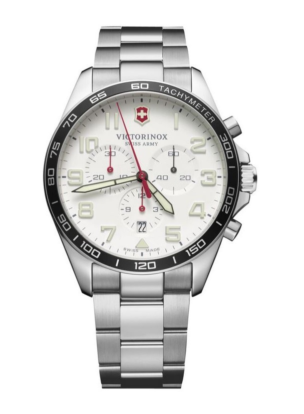 Victorinox Fieldforce White Dial Chrono SS Bracelet 42mm 241856