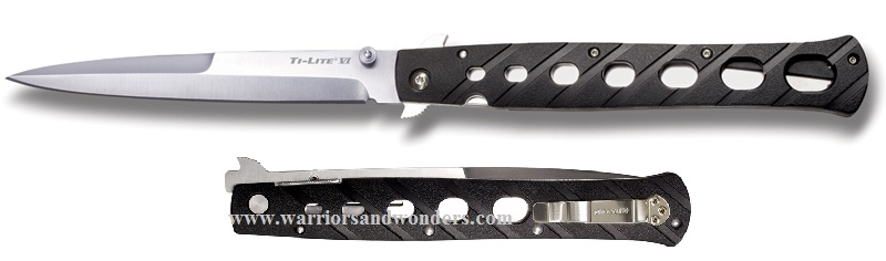"Cold Steel 6"" Ti-Lite Zytel Handle Folding Knife 26SXP"