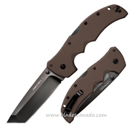 Cold Steel 27TLTVF Recon 1 Tanto Point Dark Earth CTS XHP