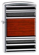 Zippo 28676 - Steel and Wood Pattern