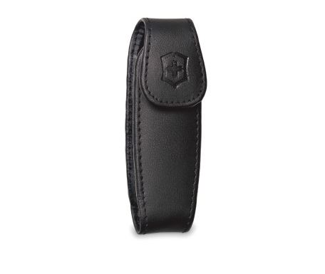 Swiss Army Medium Leather Pouch With Clip - Black