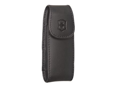 Swiss Army Large Black Leather Pouch With Clip