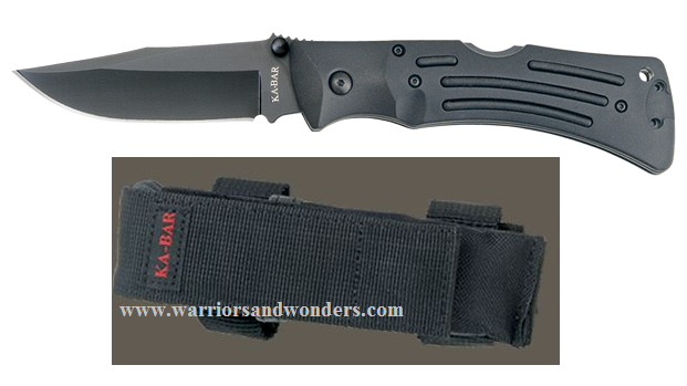 Ka-Bar 3050 Black Mule plain edge Folding Knife