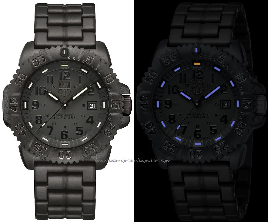 Luminox Sea A.3052.BO Navy Seal Colormark Series Blackout