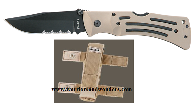 Ka-Bar 3053 Desert Mule Lockback Serrated