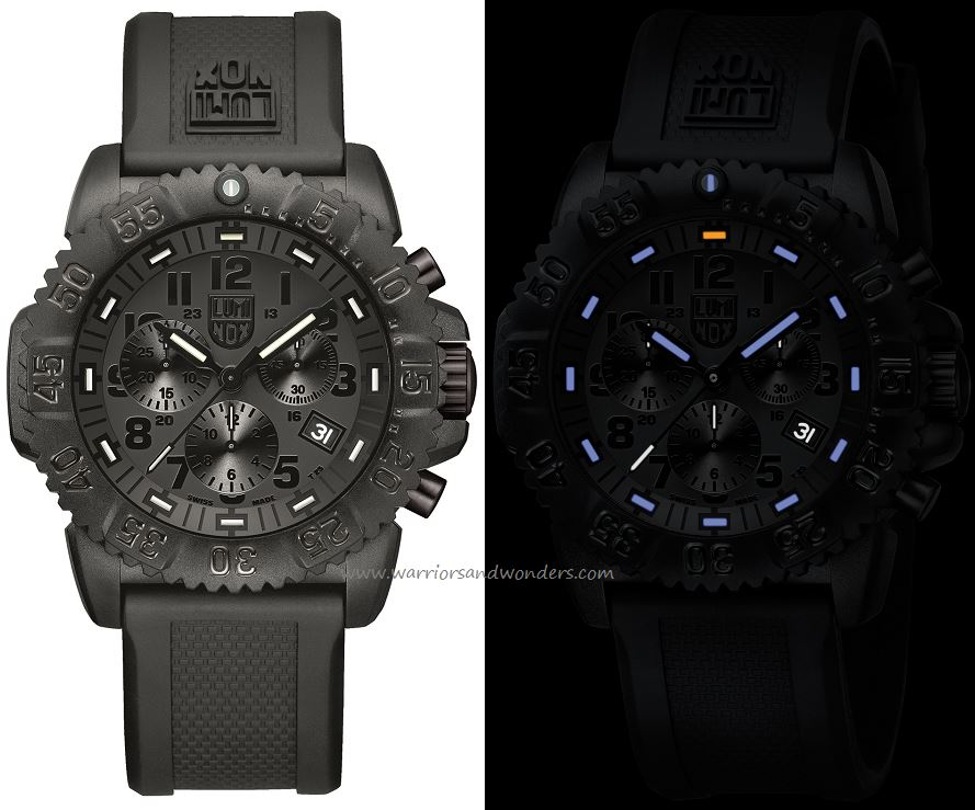Luminox Sea A.3081.BO Colormark Chronograph Series Blackout