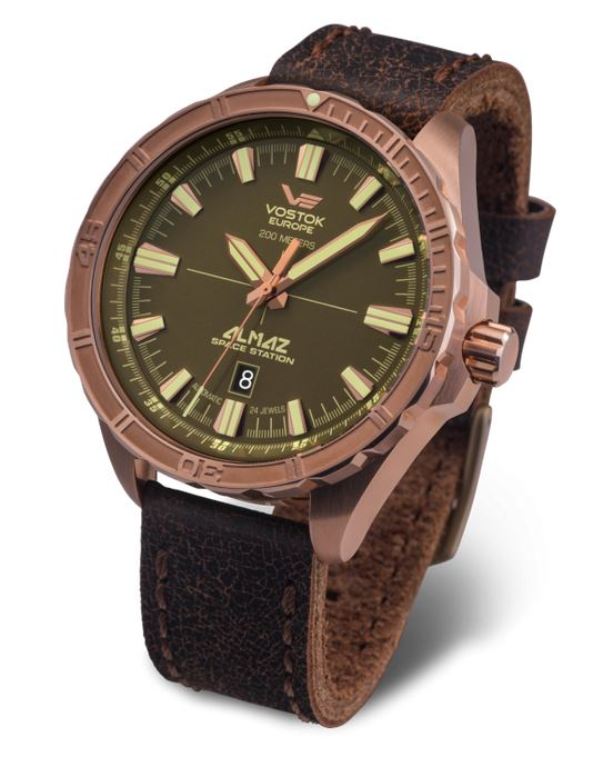 Vostok Europe Almaz Bronze Automatic Watch 320O516
