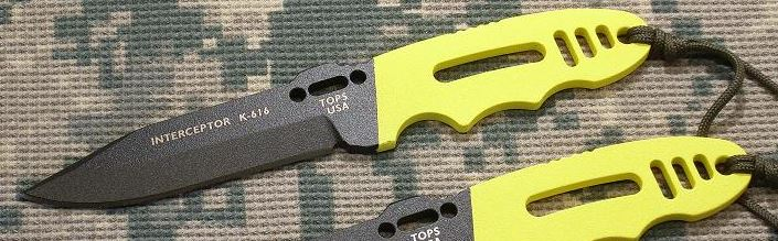 TOPS INT330CY Interceptor 330 Police Utility Yellow Kydex Sheath