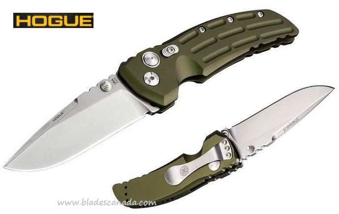 "Hogue EX-01 Drop Point 3.5""- OD Green, 154CM (Online Only)"