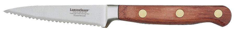 "Lamson Rosewood Forged 3.5"" Piranha Parer - Serrated (Online)"
