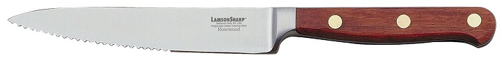 "Lamson Rosewood Forged 5"" Steak Knife Serrated"