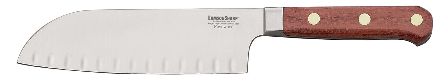 "Lamson Rosewood Forged 7"" Kullenschliff Santoku (Online Only)"