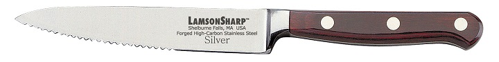 "Lamson Silver Forged 5"" Steak Knife Serrated (Online Only)"
