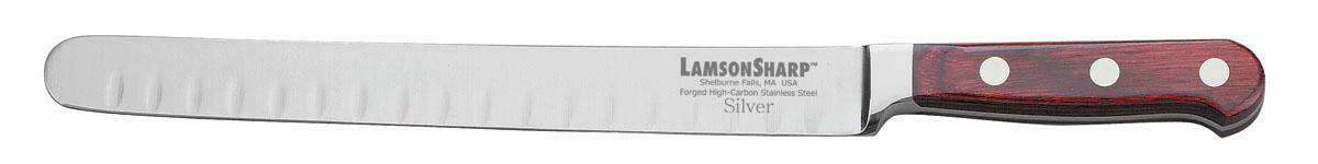"Lamson Silver Forged 10"" Kullenschliff Roast Knife (Online Only)"