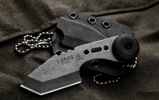 Tops Knives 3 Bros Tanto Point Neck Knife