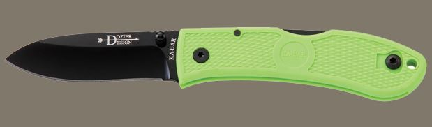 Ka-Bar 4062ZG Dozier Folding Hunter, Zombie Green (Online Only)