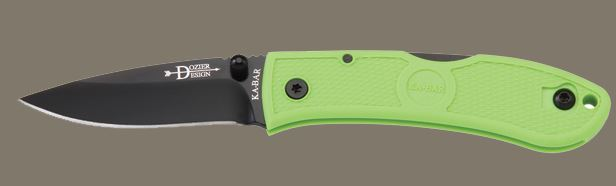 Ka-Bar 4072ZG Mini Dozier Hunter, Zombie Green (Online Only)