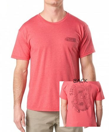 5.11 Dragon T-Shirt - Heather Red [Clearance]