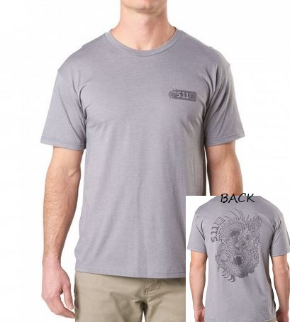 5.11 Dragon T-Shirt - Heather Grey