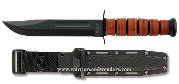 Ka-Bar 5017 Full Size USMC Plain Edge, Hard Black Sheath