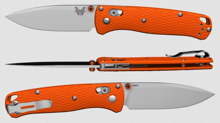 (Coming Soon) Benchmade Bugout, 20CV Blade, Orange G10, Orange Thumbstud & Standoffs, 535CU101