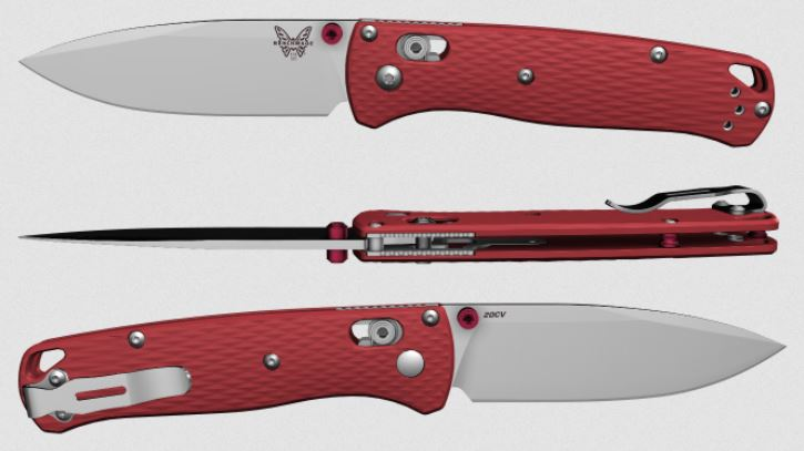 (Coming Soon) Benchmade Bugout, 20CV Blade, Red G10, Red Thumbstud & Standoffs, 535CU120
