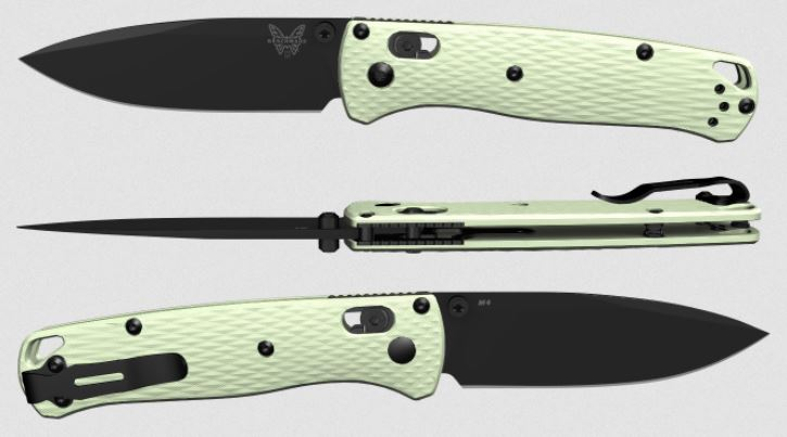 (Coming Soon) Benchmade Bugout, M4 Steel, Jade G10, Black Thumbstud & Standoffs, 535CU142